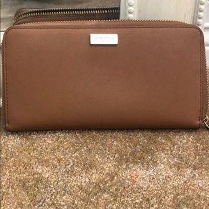 Kate Spade Neda Newbury Lane Brown Leather Wallet